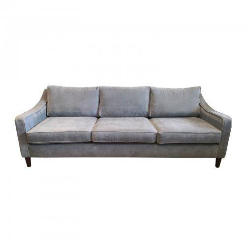 Two Design Lovers Coco Republic three seater grey sofa