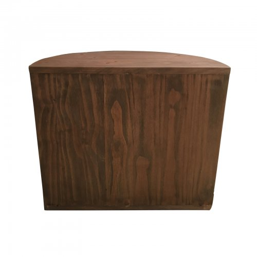 Two Design Lovers Parker timber side table back