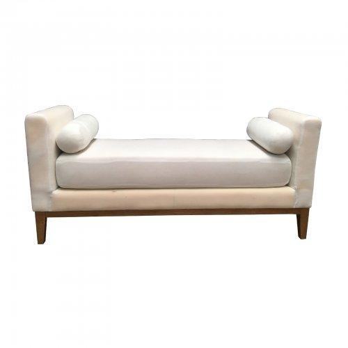 Two Design Lovers Mayvn Interiors Quinn Ottoman white front