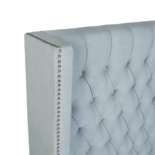 Two Design Lovers Mayvn Interiors Margaux Bedhead French Blue detail