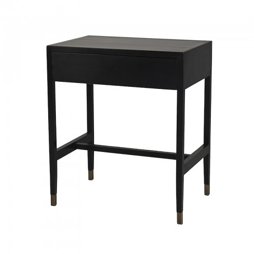 Two Design Lovers Mayvn Interiors bedside table dark sleek side