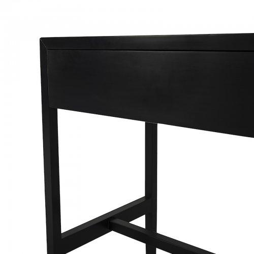 Two Design Lovers Mayvn Interiors bedside table dark sleek detail