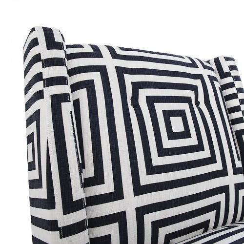 Two Design Lovers Mayvn Interiors Renton Armchair geometric ink detail