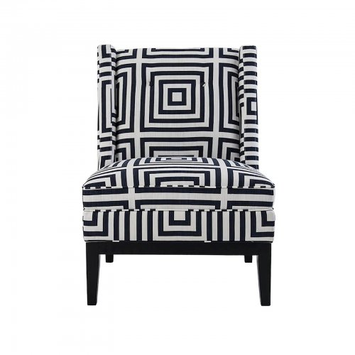 Two Design Lovers Mayvn Interiors Renton Armchair geometric ink front