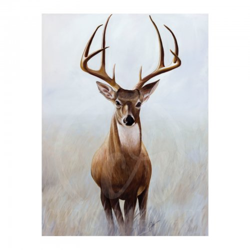 Two Design Lovers Chris Riley Deer acrylic on canvas