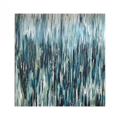 Two Design Lovers Jak & Co Summer Rain artwork acrylic on canvas