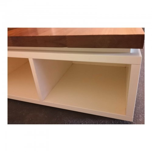 Two Design Lovers kids platform bed base and storage box detail