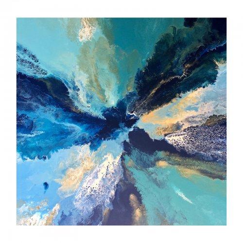Two Design Lovers Dee Ryan Wild Divine Studio Blue Lagoon acrylic