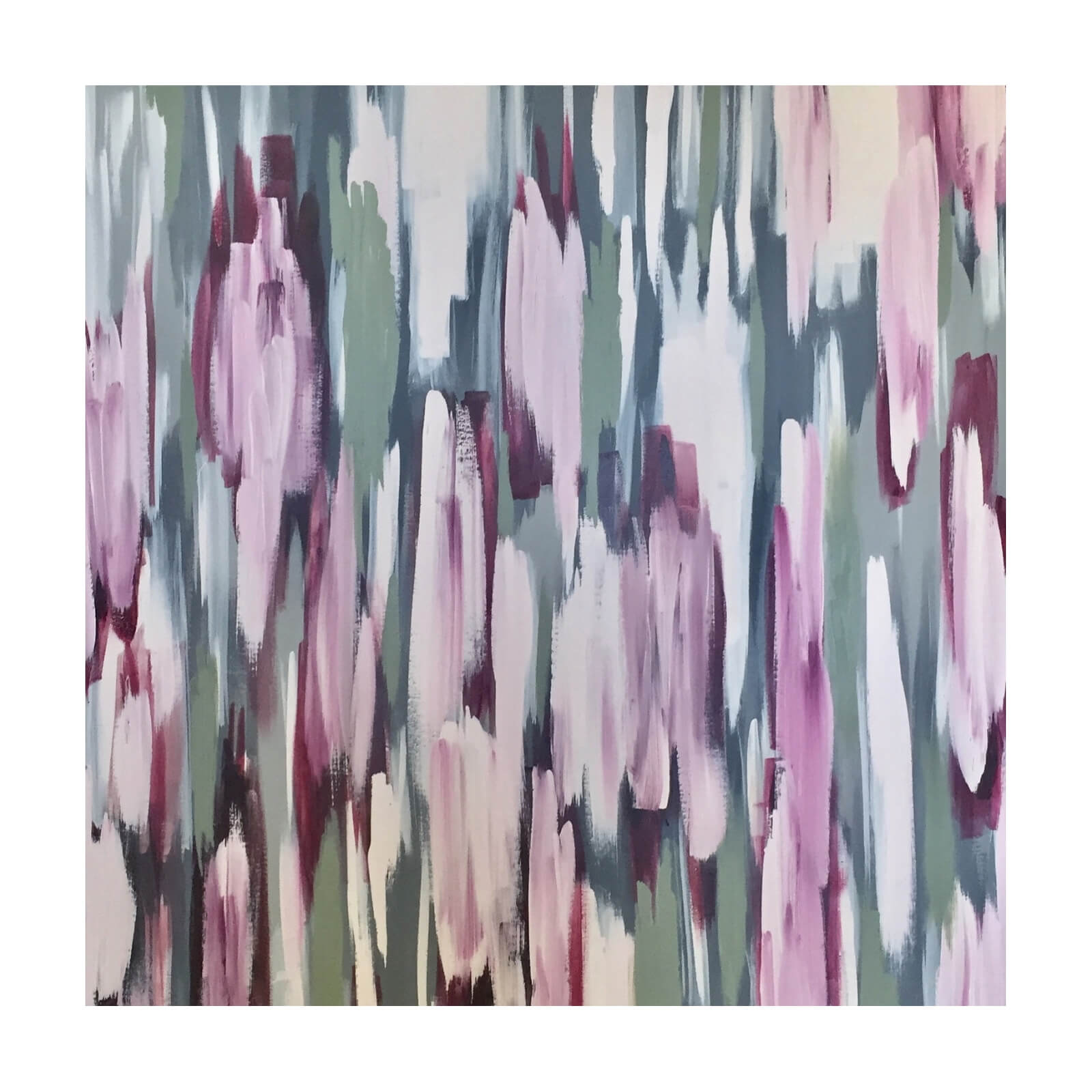 Two Design Lovers Jak & Co Rose Garden artwork acrylic on canvas