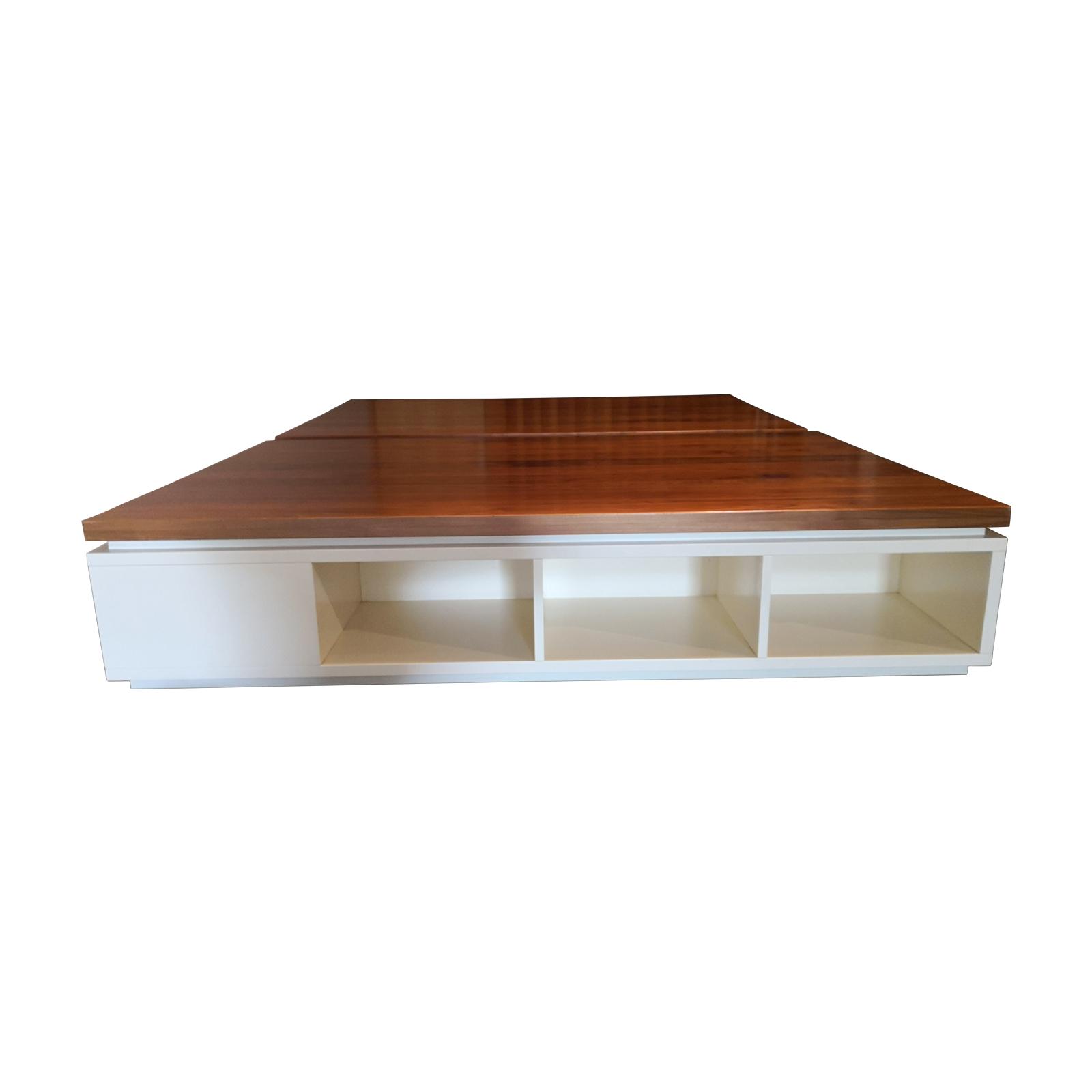 Two Design Lovers kids platform bed base and storage side set two