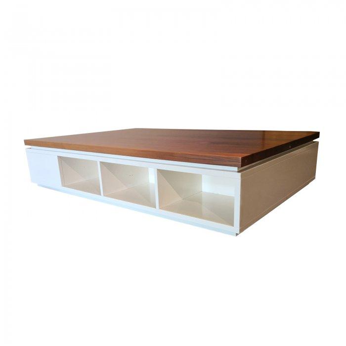 Two Design Lovers kids platform bed base and storage corner