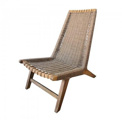 Teak and sea grass chair