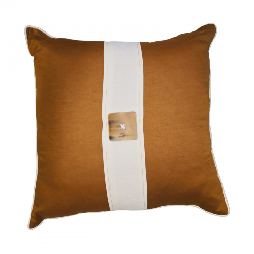 Two Design Lovers Bandhini horn button cushion