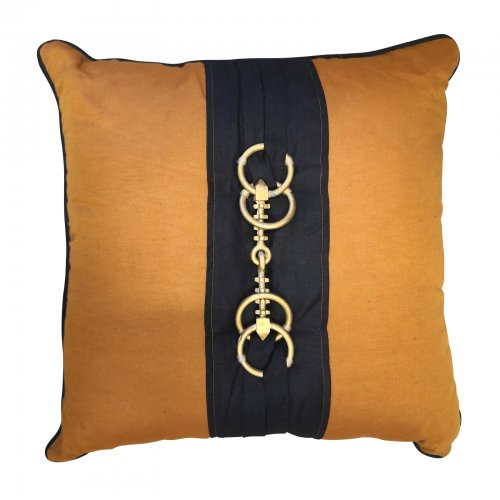 Two Design Lovers Bandhini horse bit cushion