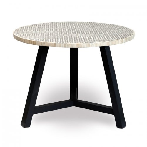 Two Design Lovers bone inlay table