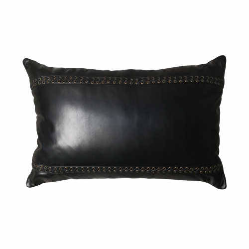 Two Design Lovers Bandhini Designs cushion leather black