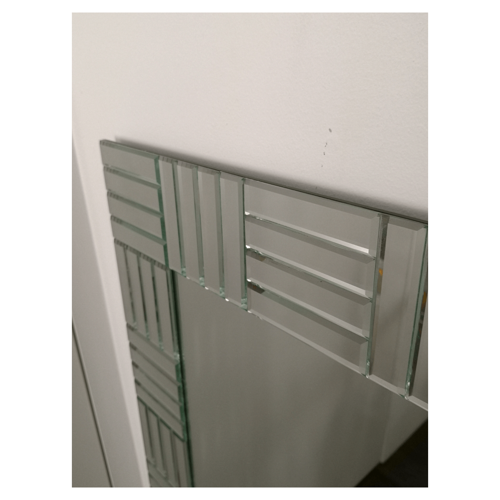Two Design Lovers bevelled edge designer mirror detail left