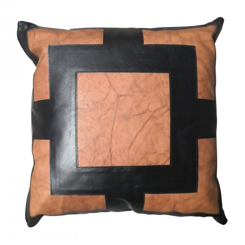 Two Design Lovers Bandhini Designs cushion leather applique