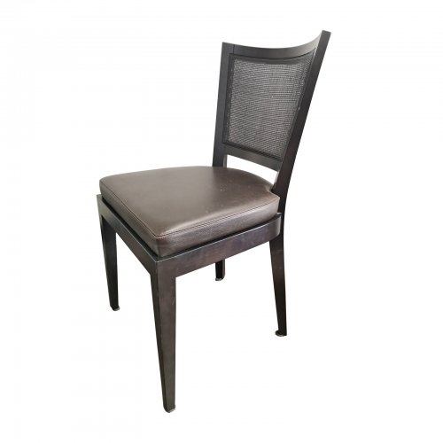 Two Design Lovers eight cane back dining chairs angle view of chair