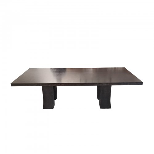 Two Design Lovers dark oak dining table Promemoria Dumbo