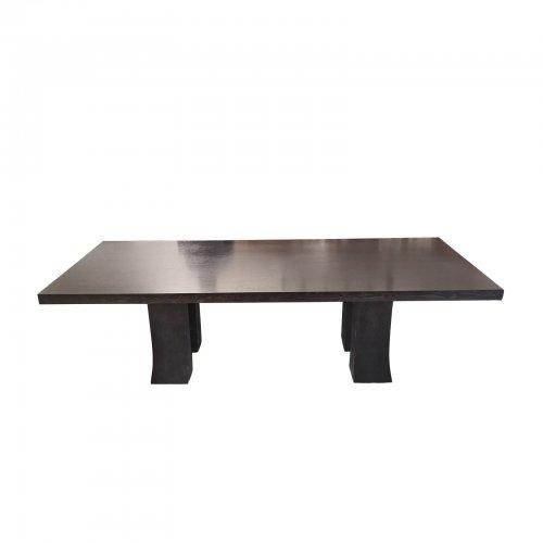 Two Design Lovers dark oak dining table Promemoria Dumbo