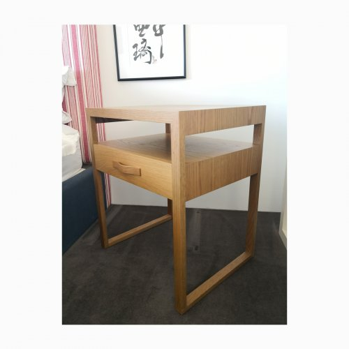 Two Design Lovers Pierre and Charlotte bedside table angle