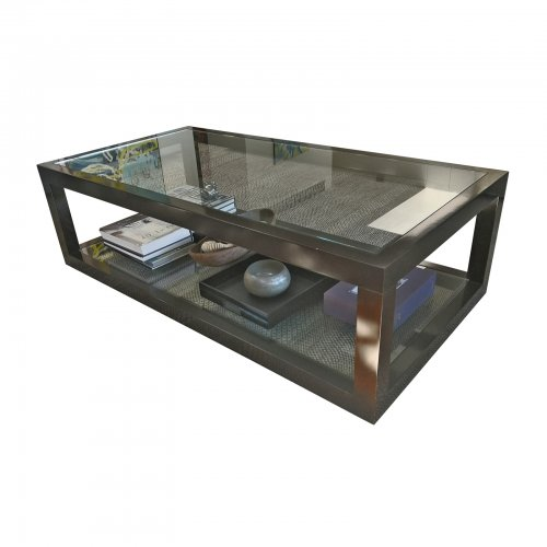 Two Design Lovers glass coffee table