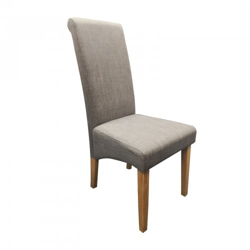 two design lovers high back dining chair angle