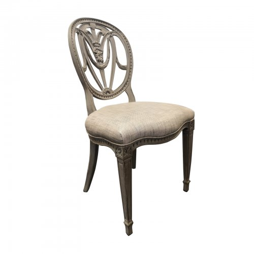 two design lovers oval back dining chair angle