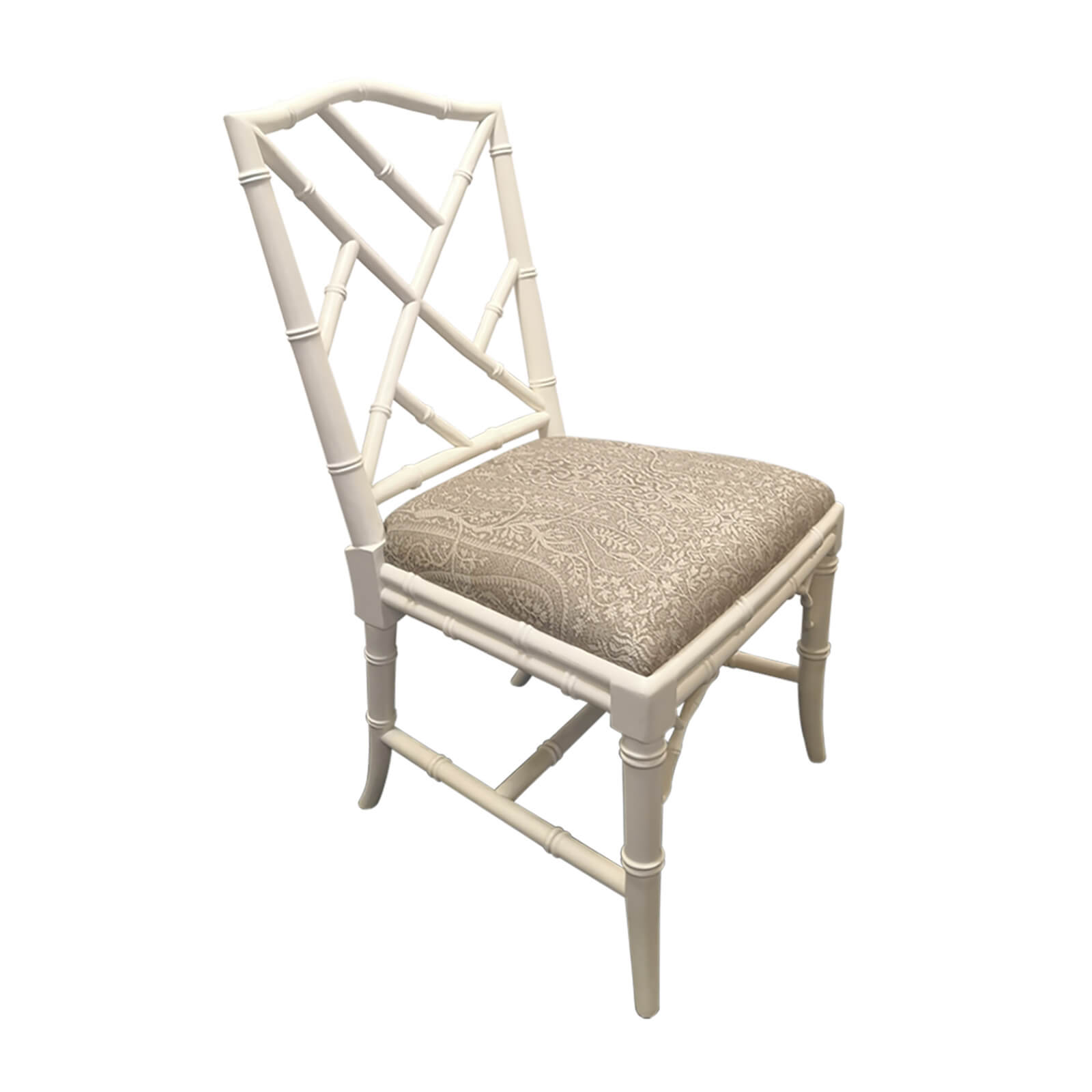 two design lovers bamboo dining chair angle