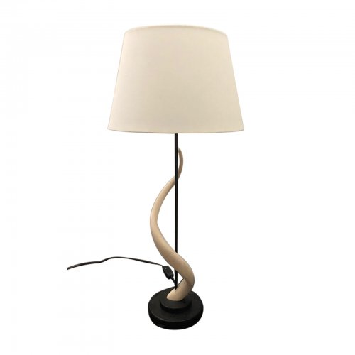 Two Design Lovers horn lamp base and shade