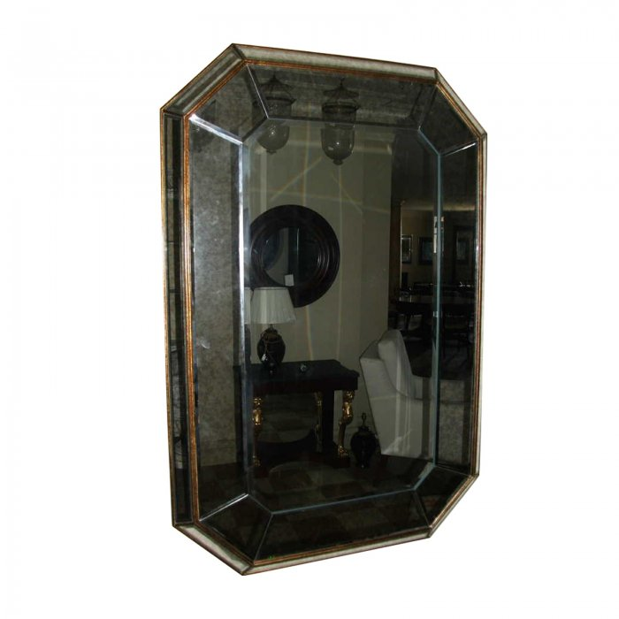 two design lovers cushion mirror octagon
