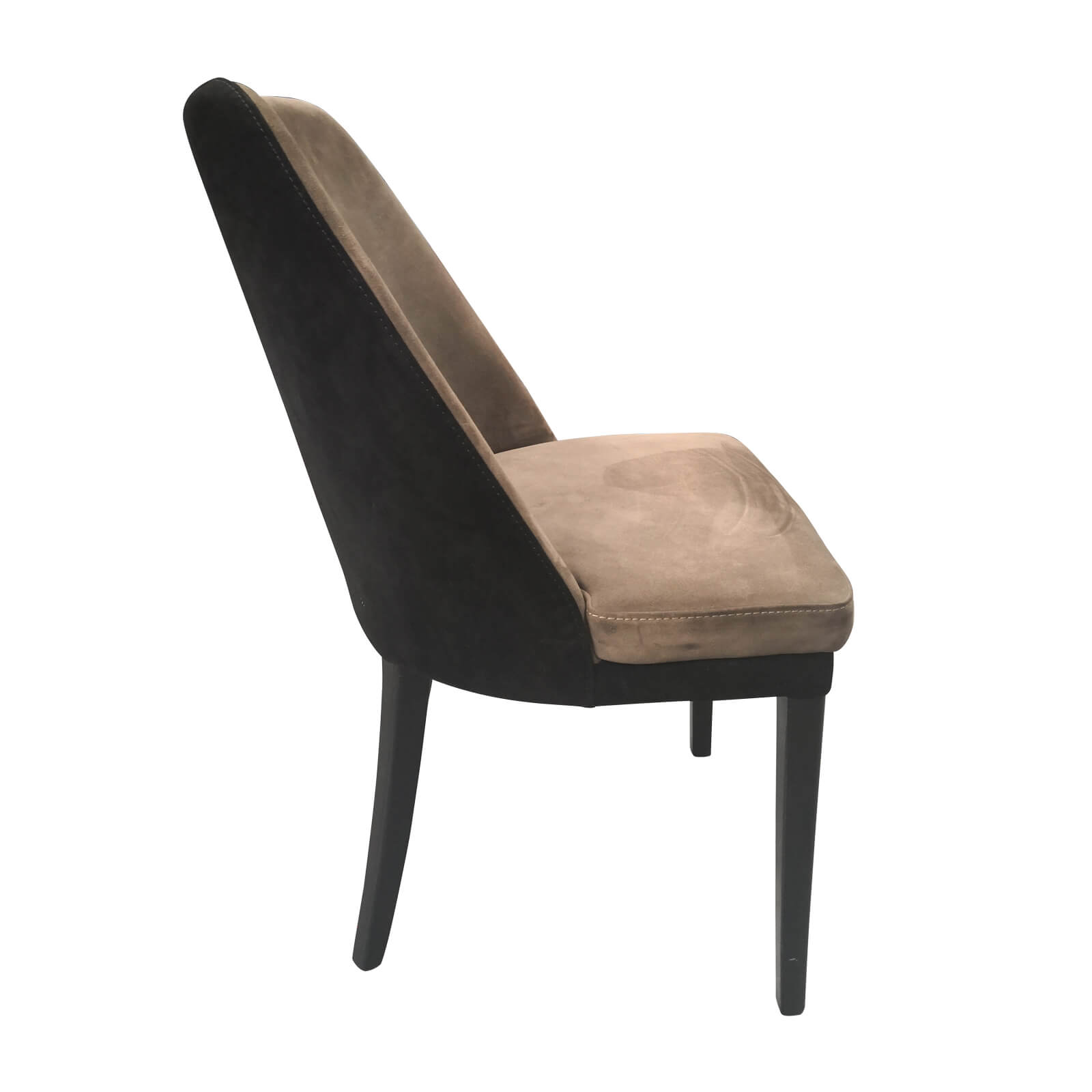 two design lovers nubuck dining chair side
