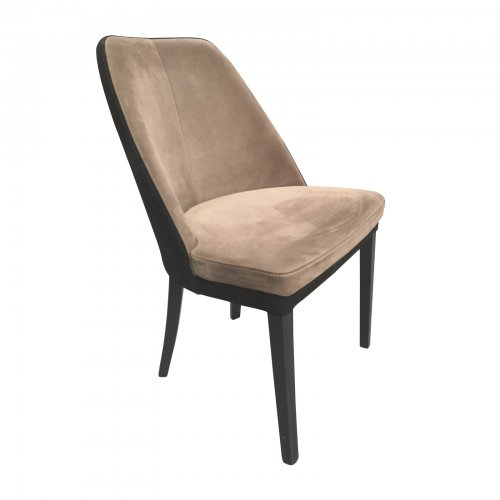 two design lovers nubuck dining chair angle