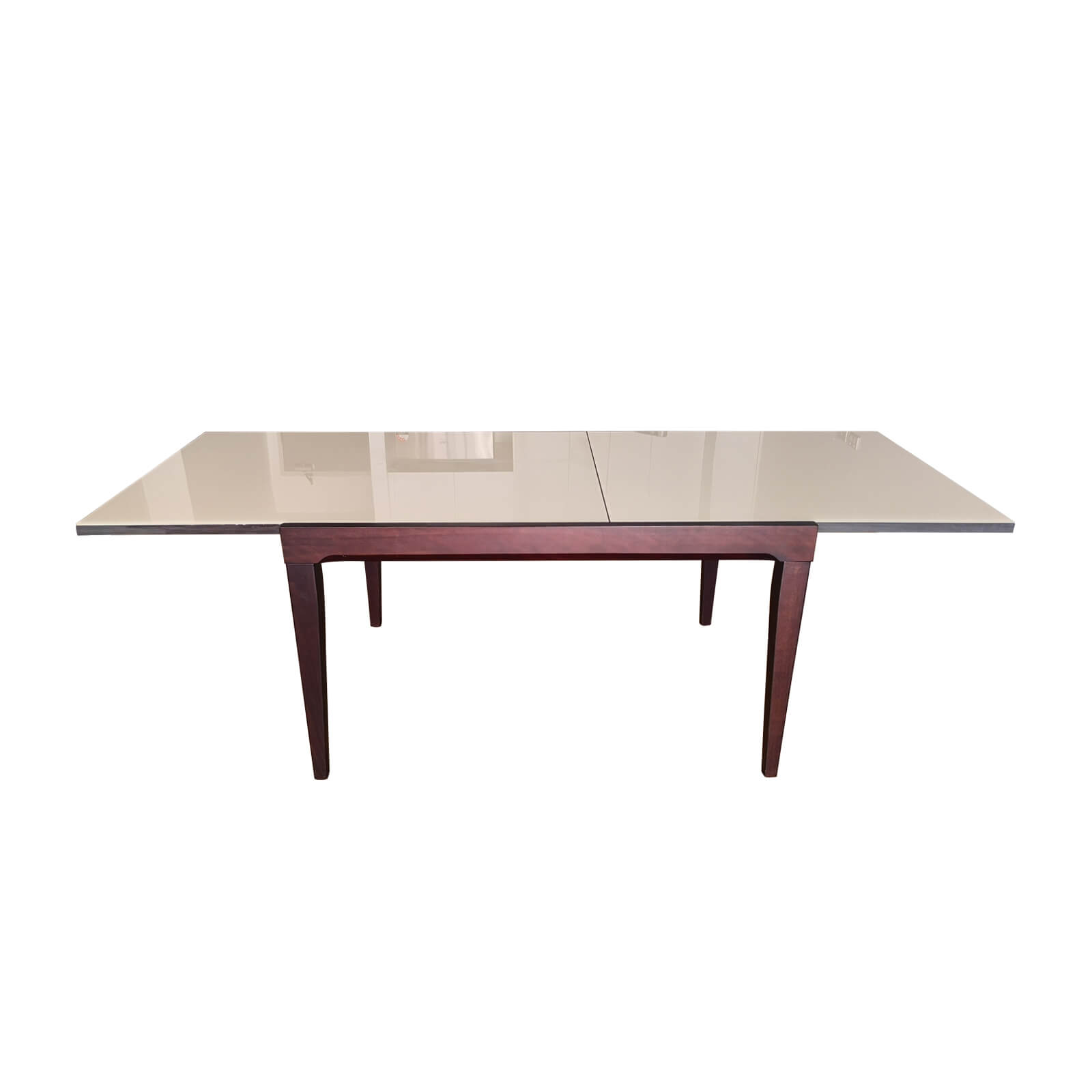 Two Design Lovers Italian 5 piece dining set table extended