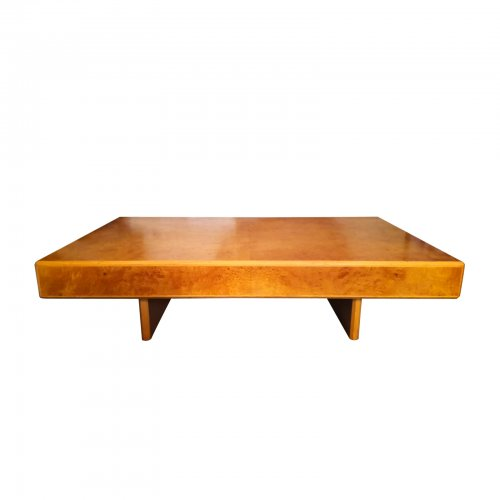 Two Design Lovers Burl Maple Wood coffee table front