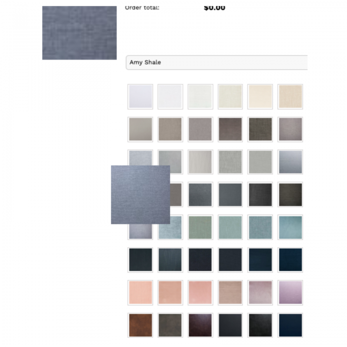 Two Design Lovers Bedsahead grey Estelle bedhead colour