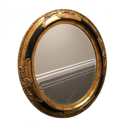 Decorative black gold mirror