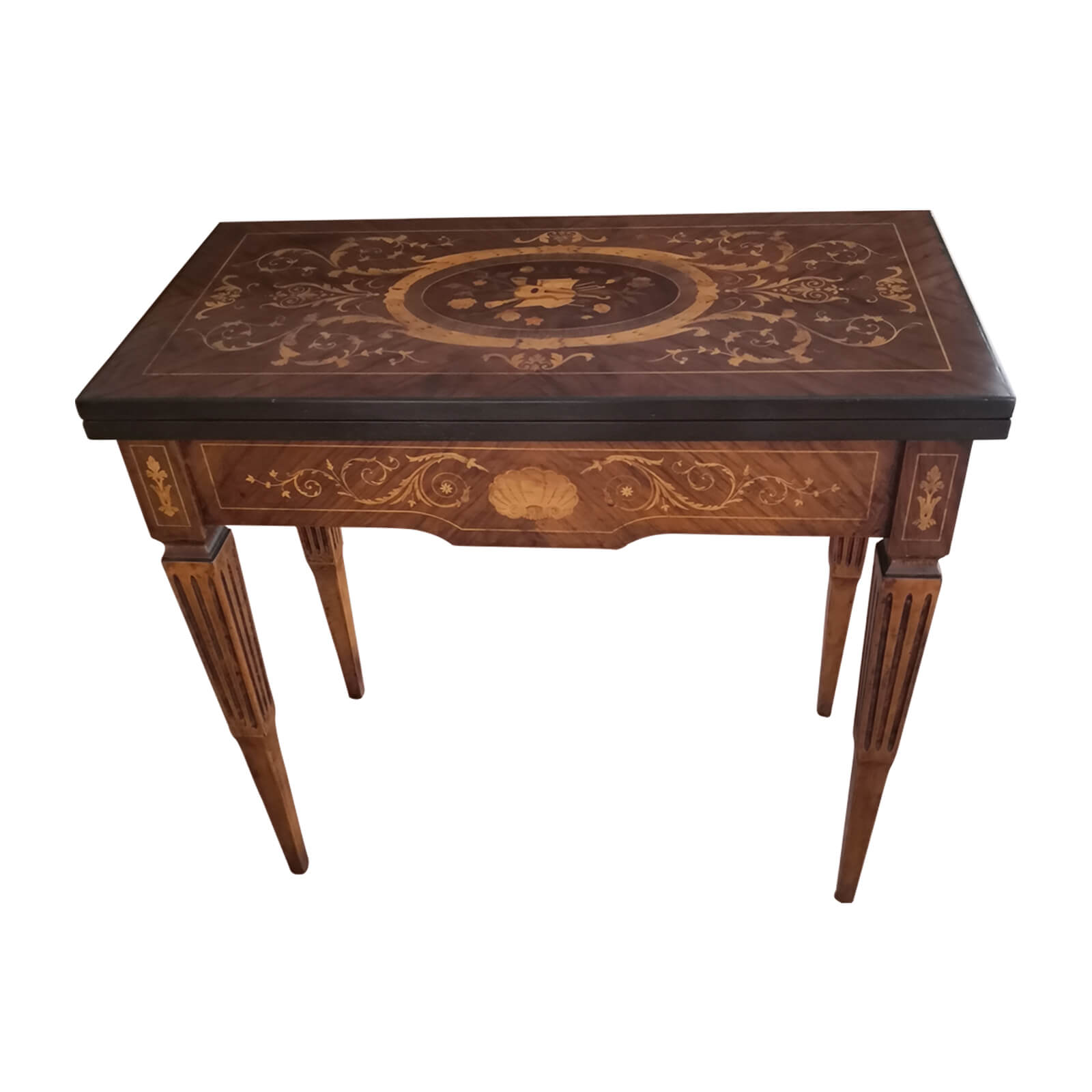 Marquetry games table