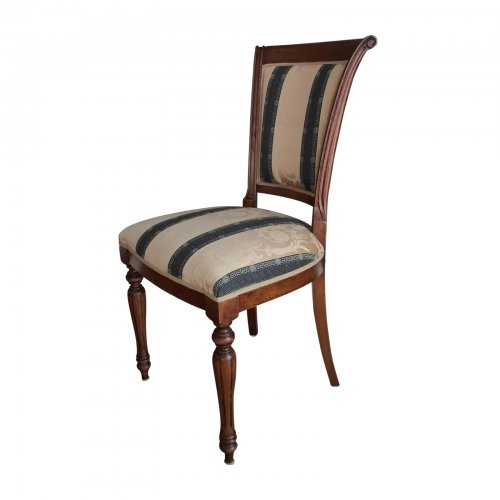 Upholstered Italian dining chair