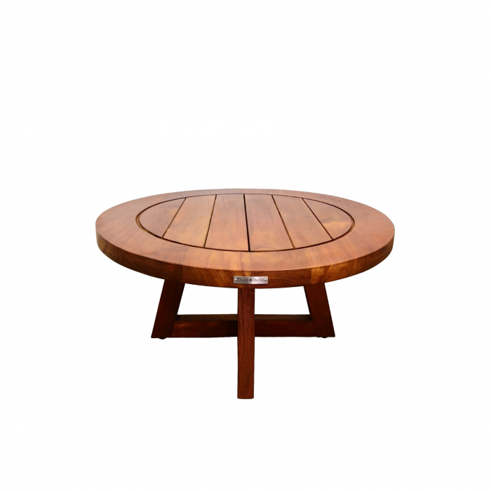 Two Design Lovers outdoor furniture teak coffee table Osier Belle 80cm