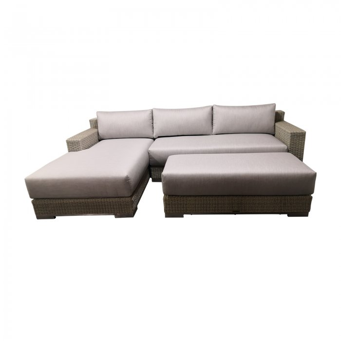 Two Design Lovers outdoor furniture Osier Belle Frappant sofa set with ottoman