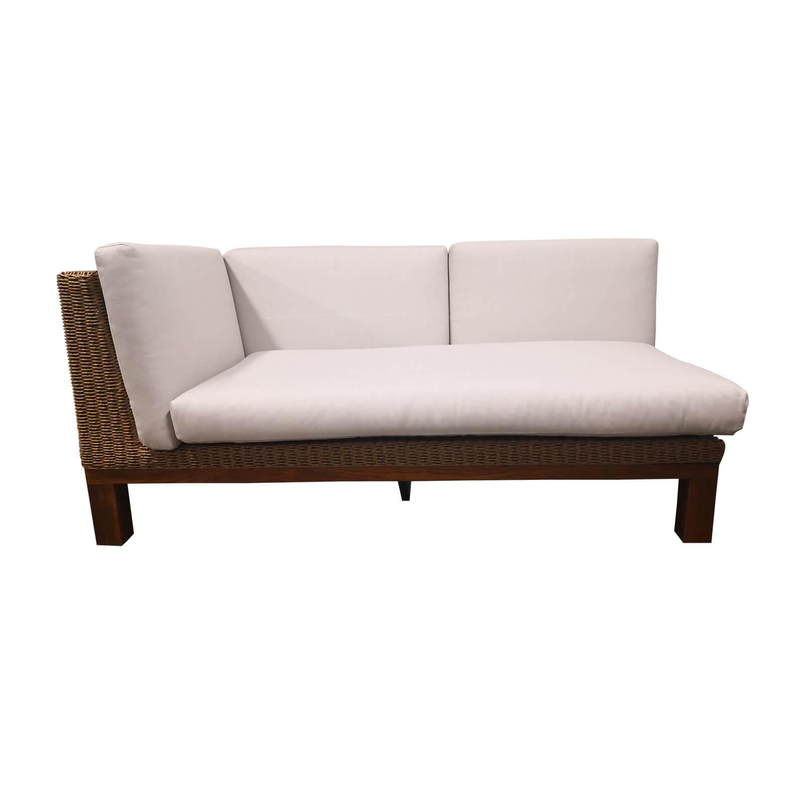 Two Design Lovers outdoor furniture teak and wicker sofa Osier Belle Joli