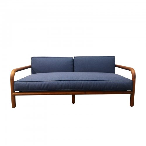 Two Design Lovers outdoor furniture Osier Belle Luxe teak sofa navy blue