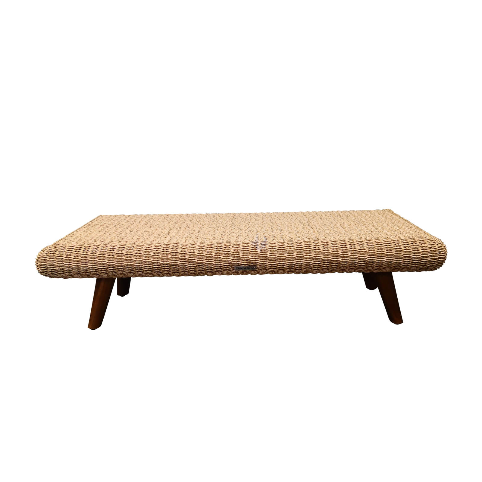Two Design Lovers outdoor furniture wicker coffee table Osier Belle Bulle