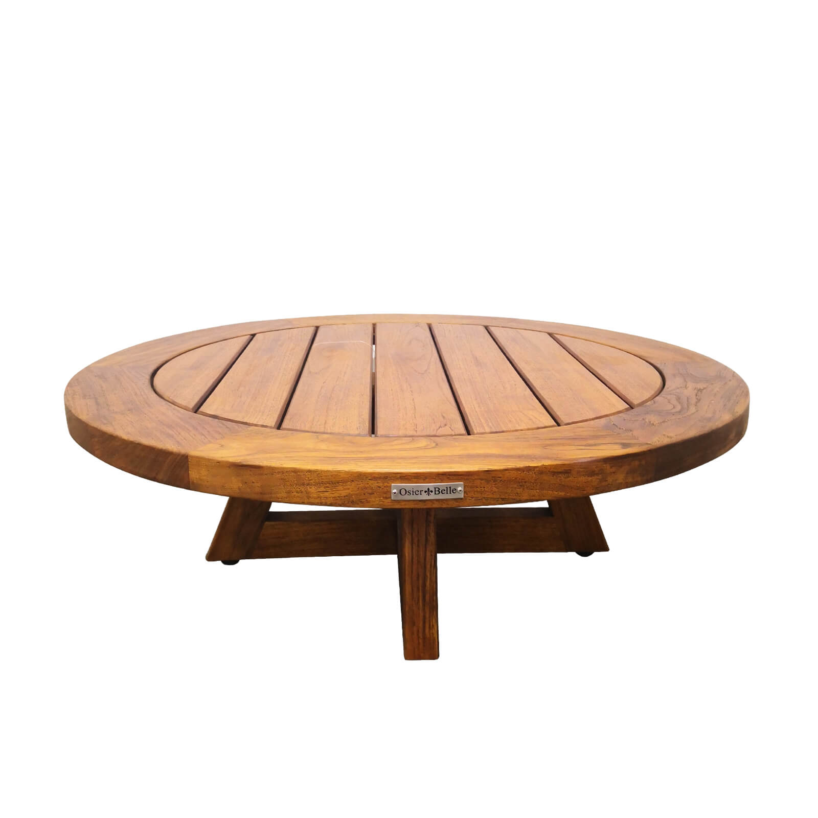 Two Design Lovers outdoor furniture teak coffee table Osier Belle 90cm