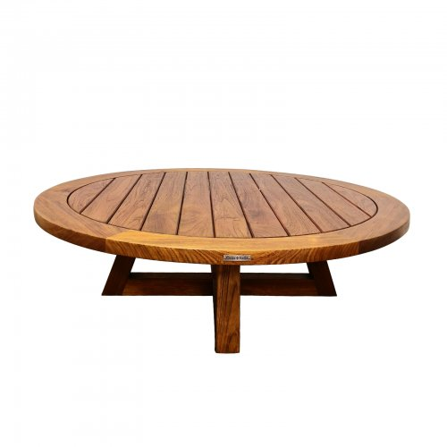 Two Design Lovers outdoor furniture teak coffee table Osier Belle 130cm