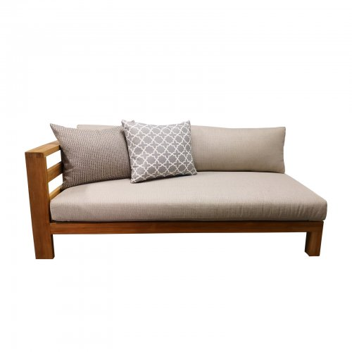 Two Design Lovers outdoor furniture Osier Belle Teak sofa with cushions