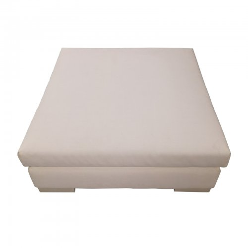Two Design Lovers Outdoor furniture Osier Belle Leisuretex white ottoman