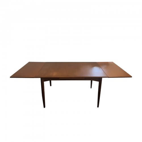 Original Parker Teak Extendable Dining Table Australian Mid Century Modern Extended
